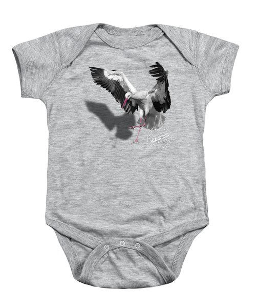 Flying Stork No 01 Baby Onesie