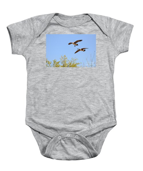 Flying Twins Baby Onesie