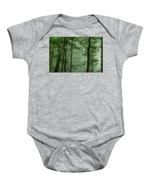Fog In The Forest Baby Onesie