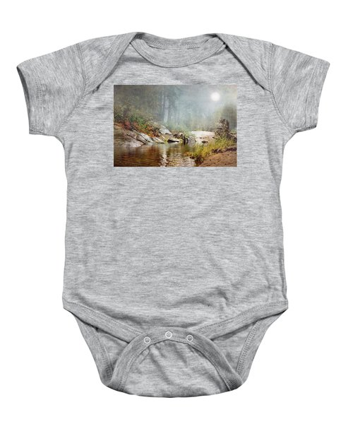 Foggy Fishin Hole Baby Onesie