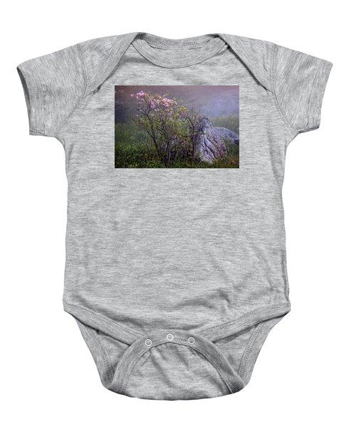 Foggy Pink Azalea Baby Onesie
