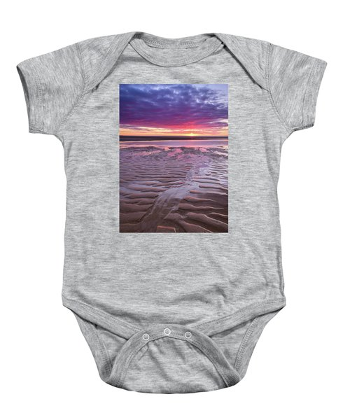 Folds In The Sand - Vertical Baby Onesie