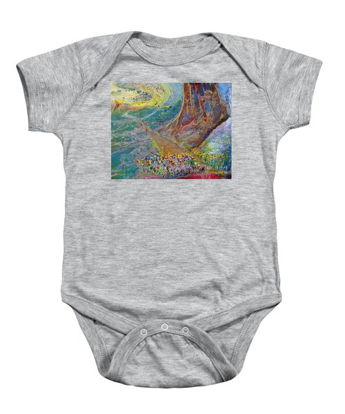 Follow Your Path Baby Onesie