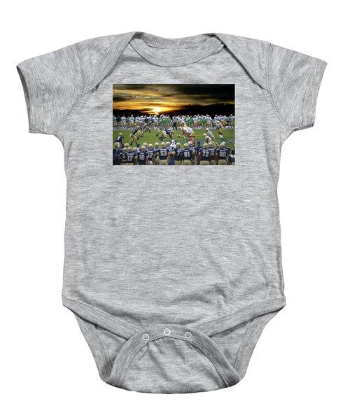 Football Field-notre Dame-navy Baby Onesie