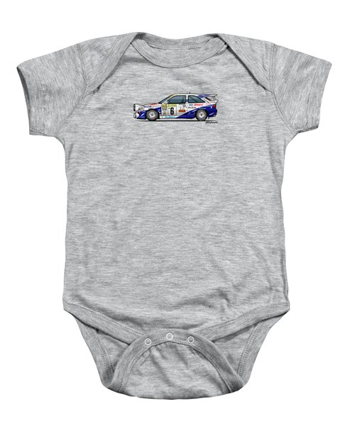 Ford Escort Mk5 Rs Cosworth Group A Rally Monte Carlo 1994 Baby Onesie