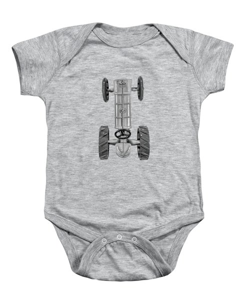 Fordson Tractor Top Bw Baby Onesie
