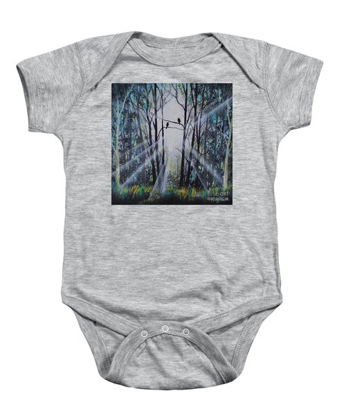 Forest Birds Baby Onesie