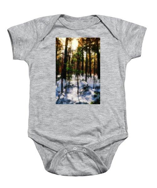 Forest Dawn Baby Onesie