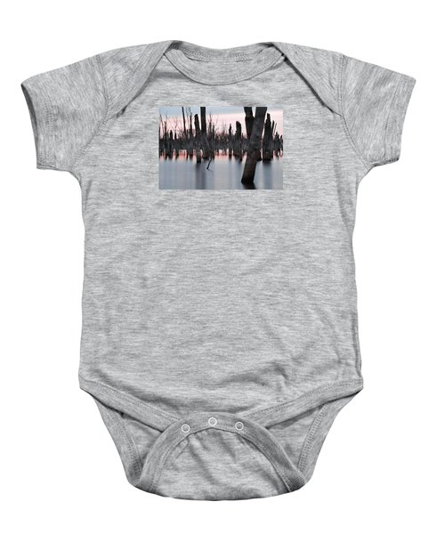 Baby Onesie featuring the photograph Forest In The Water by Jennifer Ancker