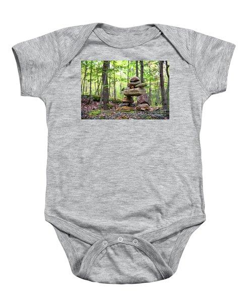 Forest Inukshuk Baby Onesie