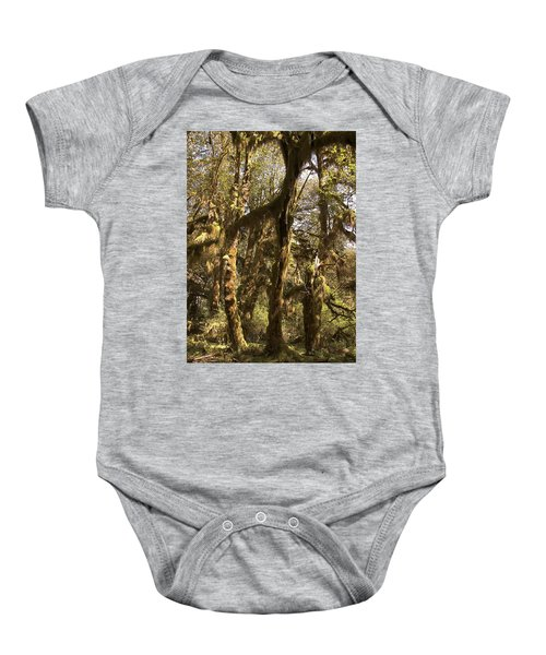 Forest Setting In Hoh Rain Forest Baby Onesie