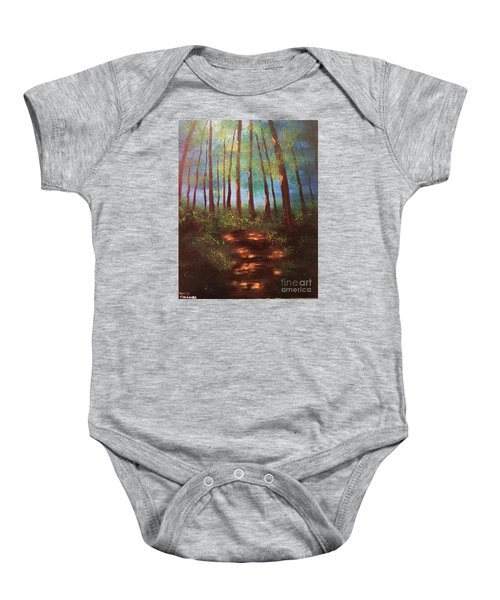 Forests Glow Baby Onesie