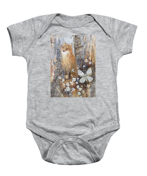 Fox And Butterfly Baby Onesie