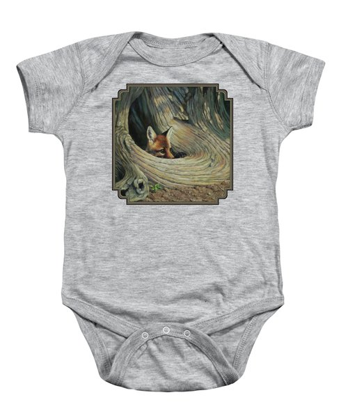 Fox - It's A Big World Out There Baby Onesie