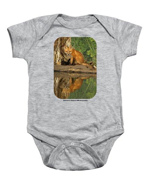 Fox Reflection Shirt Baby Onesie