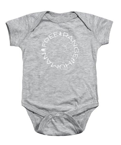 Free Range Human Circle Baby Onesie