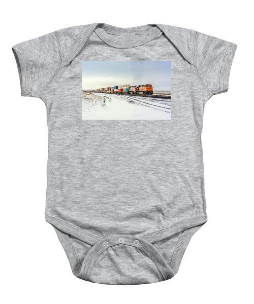 Freight Train Baby Onesie