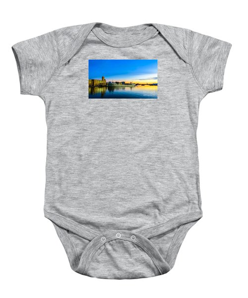 Freighter Alpena On The Fox River Channel In Green Bay Baby Onesie