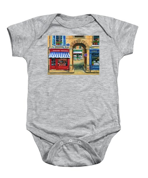 French Butcher Shop Baby Onesie