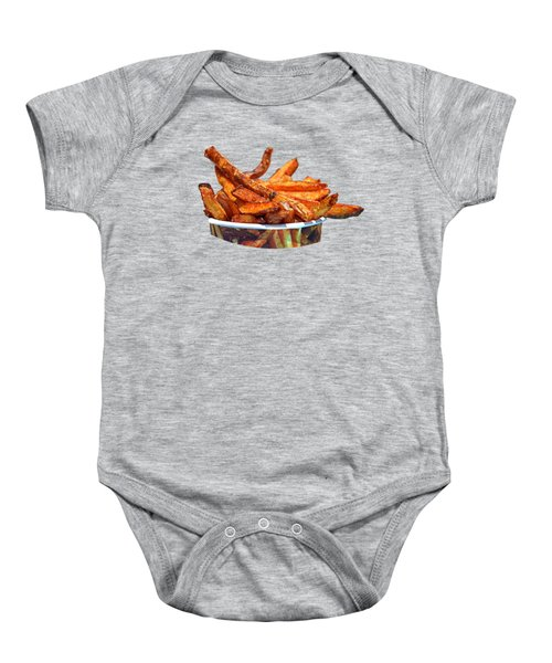 French Fries On The Boards Baby Onesie