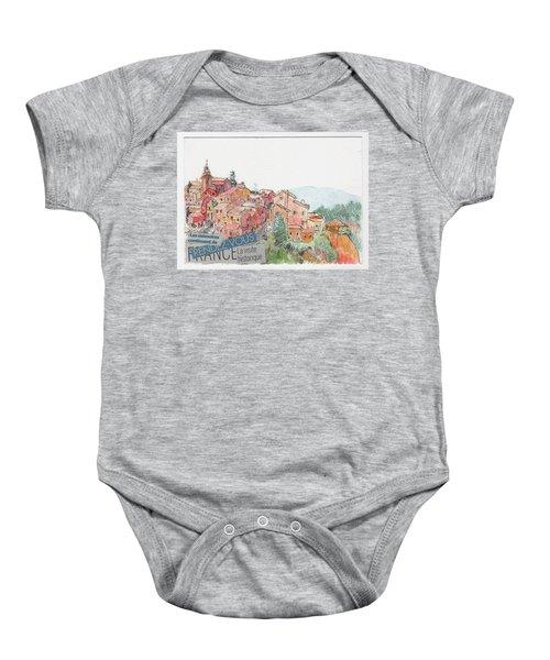 French Hill Top Village Baby Onesie