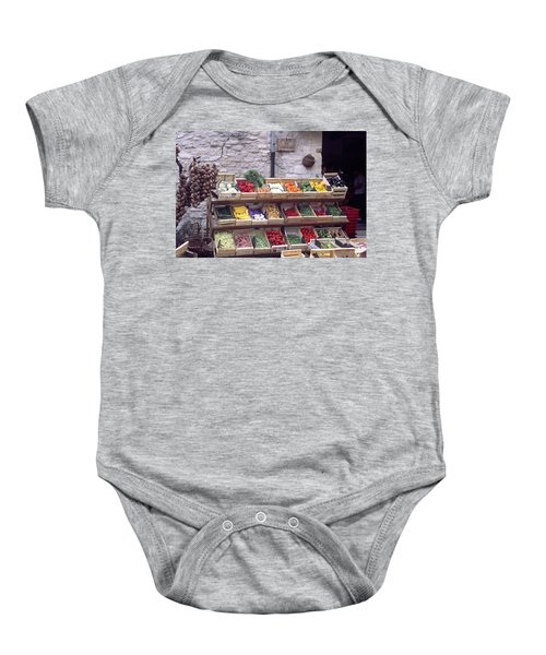 French Vegetable Stand Baby Onesie