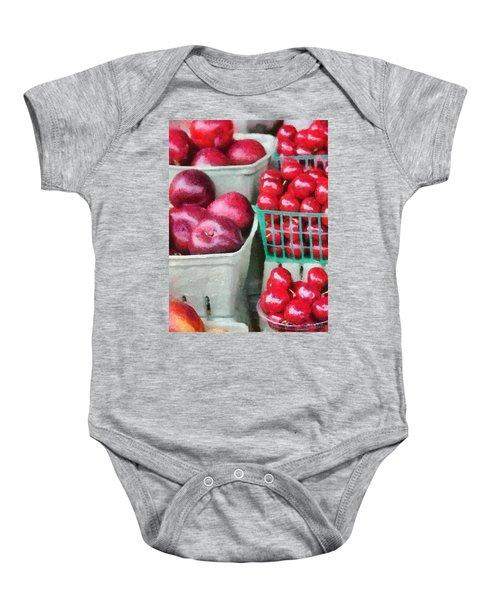 Fresh Market Fruit Baby Onesie
