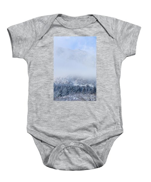 Fresh Snow In Cheyenne Mountain State Park Baby Onesie
