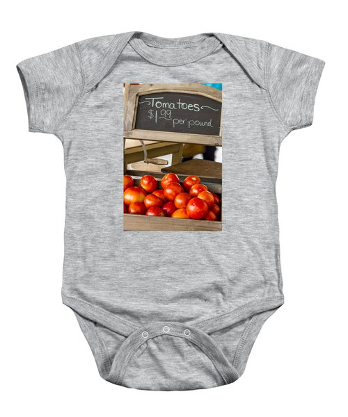 Fresh The Garden Tomatoes Baby Onesie