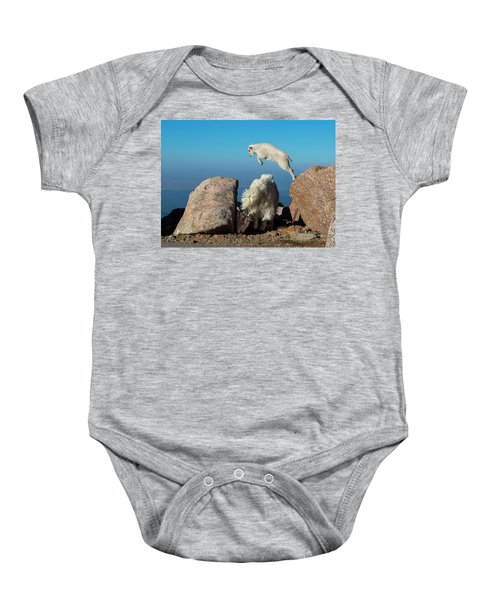 Leaping Baby Mountain Goat Baby Onesie