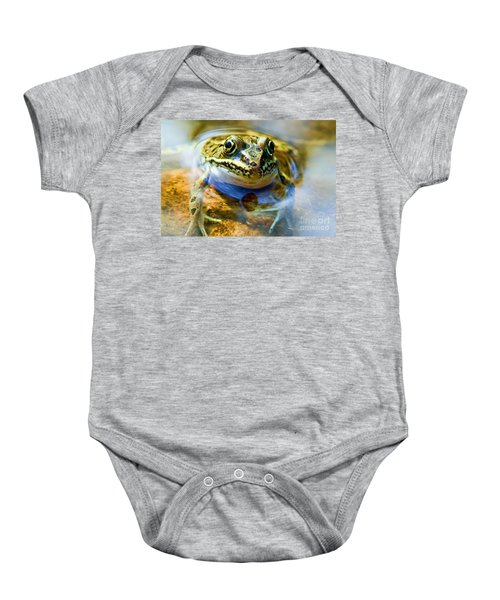 Frog In Pond Baby Onesie