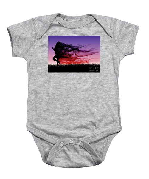 Frolicking Through The Meadow Baby Onesie