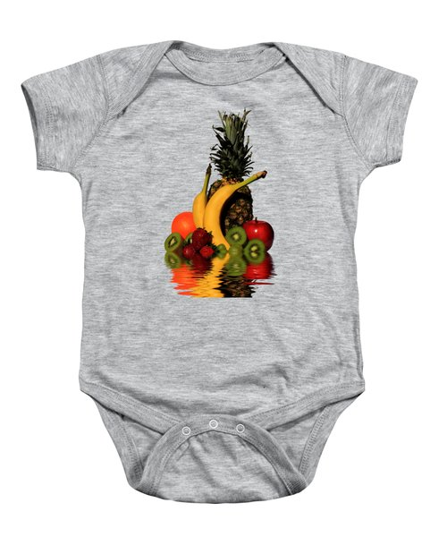 Fruity Reflections - Medium Baby Onesie by Shane Bechler