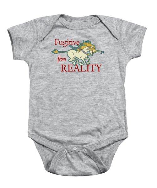 Fugitive Unicorn Baby Onesie