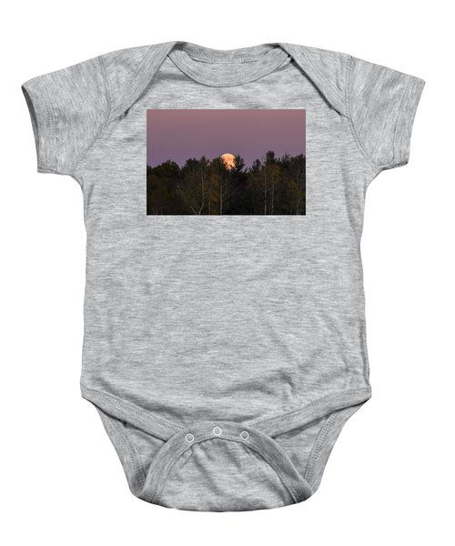 Full Moon Over Orchard Baby Onesie