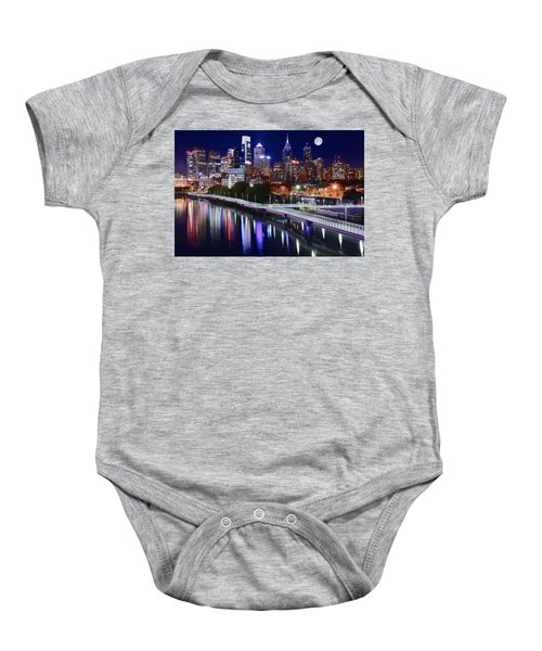 Full Moon Over Philly Baby Onesie