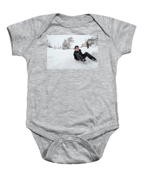 Fun On Snow-1 Baby Onesie
