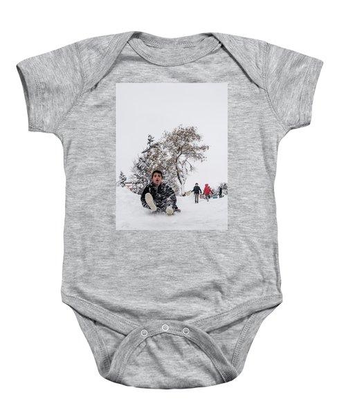 Fun On Snow-2 Baby Onesie