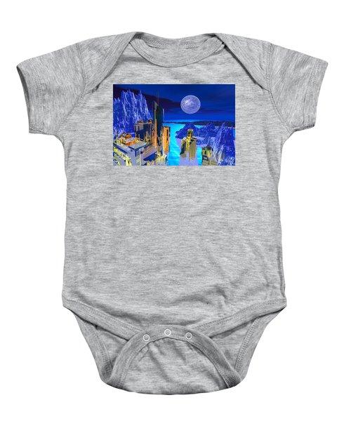 Futuristic City Baby Onesie