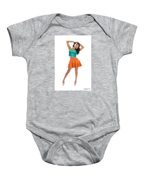 Baby Onesie featuring the digital art Gaby by Nancy Levan