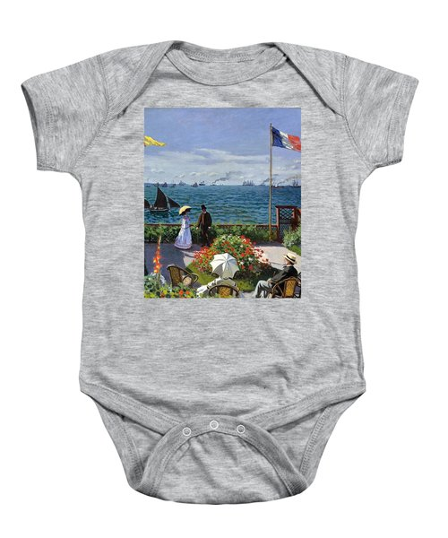 Garden At Sainte Adresse By Claude Monet Baby Onesie