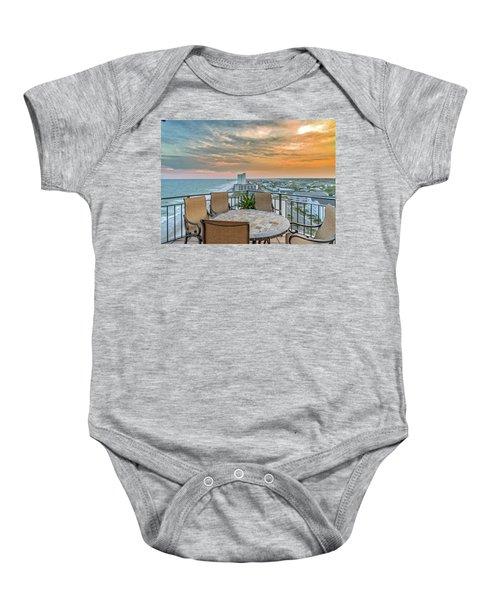 Garden City Beach View Baby Onesie