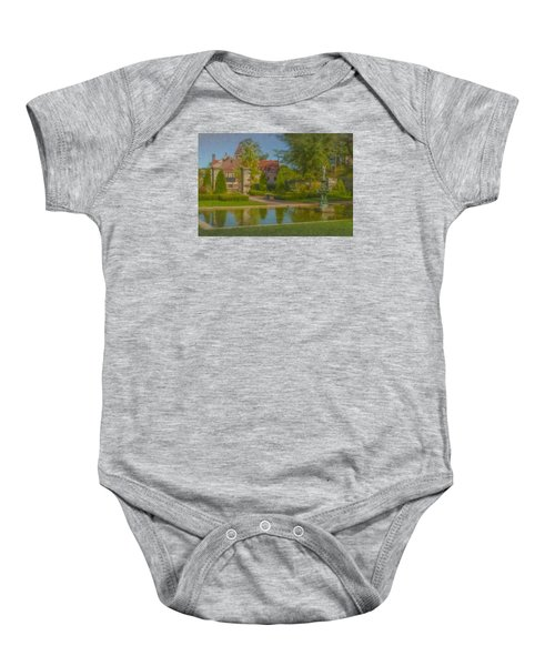 Garden Fountain At Ames Free Library Baby Onesie
