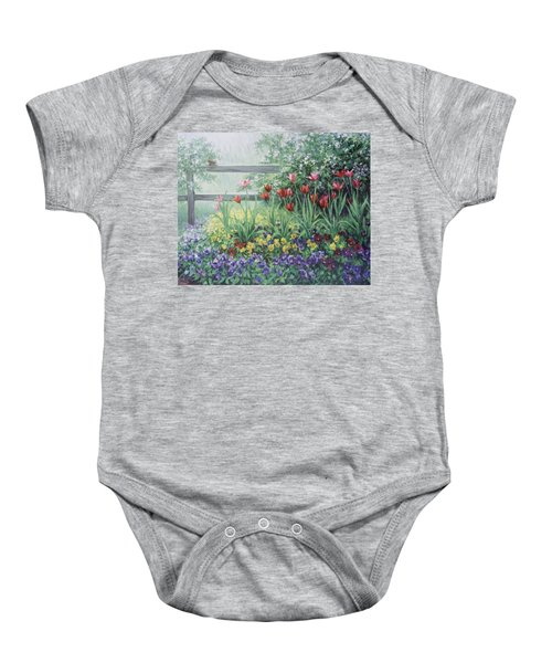 Garden Tulips Baby Onesie