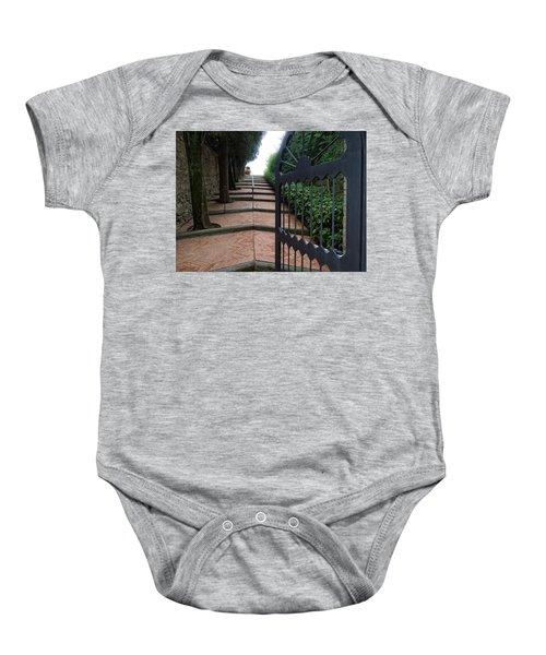 Gate To Castello Vichiamaggio Baby Onesie