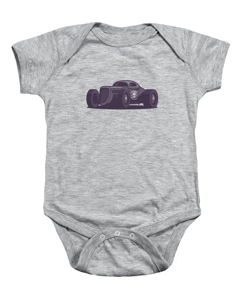 Gaz Gl1 Custom Vintage Hot Rod Classic Street Racer Car - Black Baby Onesie
