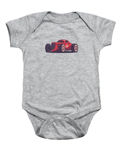 Gaz Gl1 Custom Vintage Hot Rod Classic Street Racer Car - Red Baby Onesie