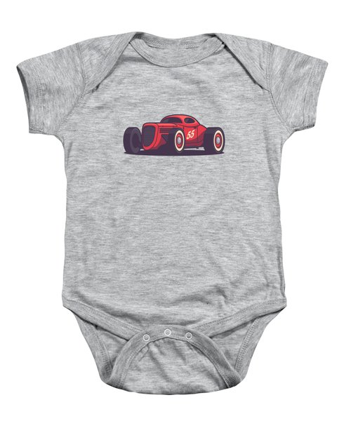 Gaz Gl1 Custom Vintage Hot Rod Classic Street Racer Car - Red Baby Onesie