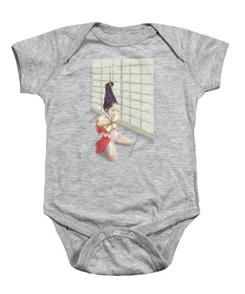 Baby Onesie featuring the mixed media Geisha by TortureLord Art