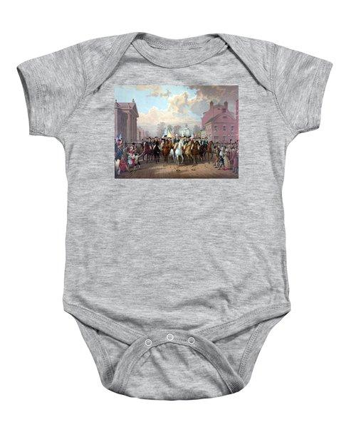 General Washington Enters New York Baby Onesie